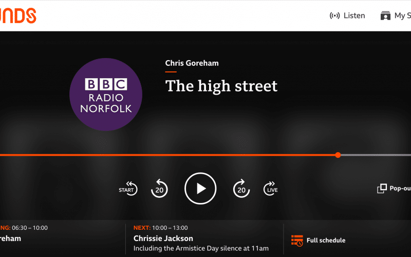 BBC Norfolk Radio with Chris Goreham